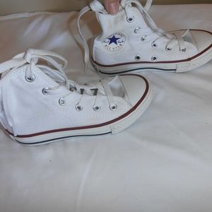 Converse Chuck Taylor white high top sneakers kids